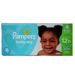 Pampers Baby Dry Diapers Size 6 Econo Pack