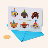 Papyrus Birthday Card Dog Party Glasses