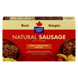 Maple Leaf Natural Sausage Fully Cooked Pork Breakfast Patties