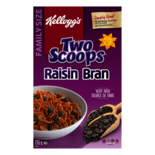 Kellogg's Two Scoops Raisin Bran Cereal