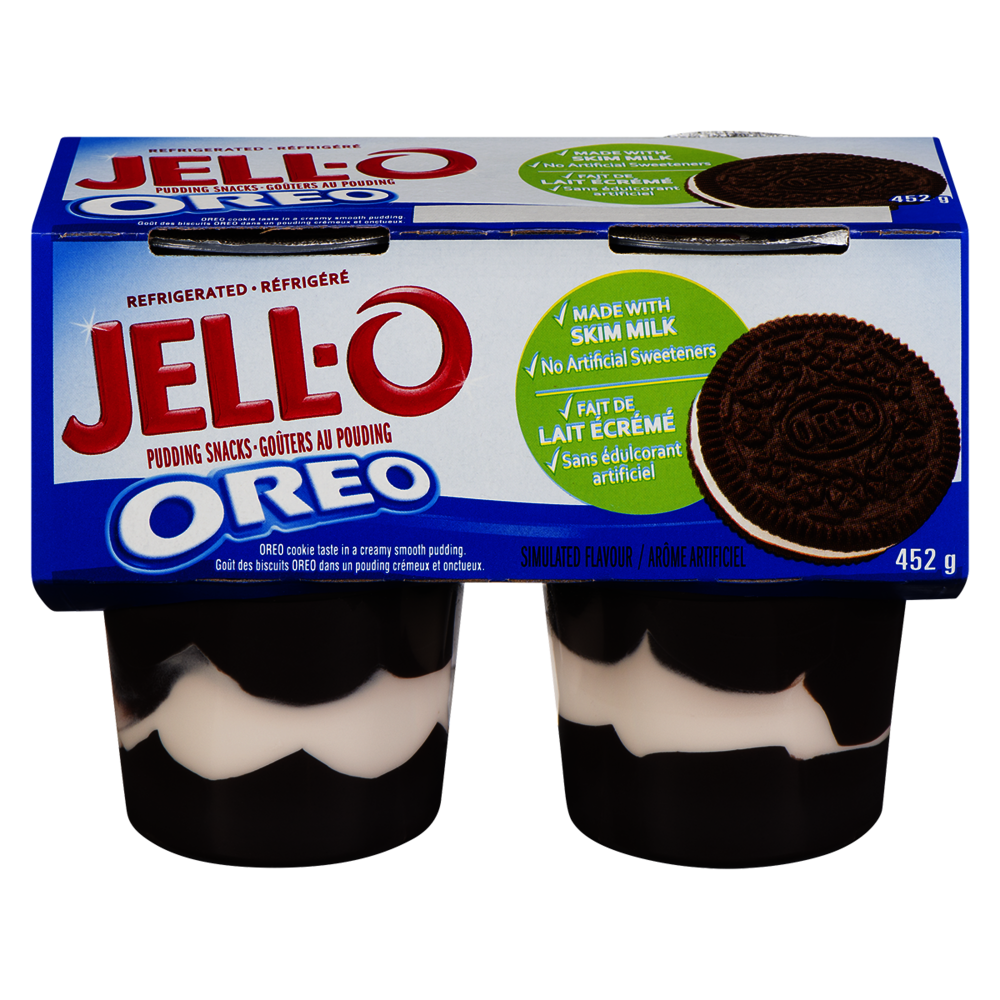 Jell-O Refrigerated Pudding Snacks, Oreo, 4 Cups