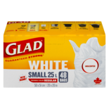 Glad EZ Tie Small White Unscented Garbage Bag