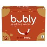 Bubly Sparkling Water Peach