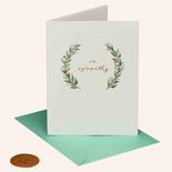 Papyrus Sympathy Card Elegant Greenery
