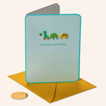 Papyrus Baby Card Wooden Block Icons