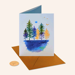 Papyrus Thinking Of You Card Watercolor Landscape