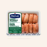 Maple Leaf Prime Raised Without Antibiotics Chicken Thighs Value Pack Boneless Skinless