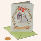 Papyrus Wedding Card Whimsy Bridal Outfits
