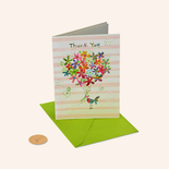 Papyrus Thank You Card Birdie with Flowers
