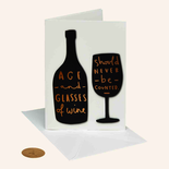 Papyrus Birthday Card Age and Wine Quote