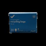 Longos Essentials Recycling Large Bags Transparent Blue Flex-Tie