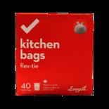 Longos Essentials Regular Kitchen Bags Flex Tie