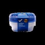 Longos Essentials Medium Square Containers with Lids