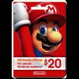 NINTENDO SWITCH ESHOP GIFT CARD - $20