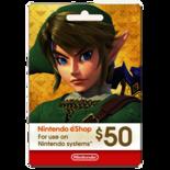 NINTENDO SWITCH ESHOP GIFT CARD - $50
