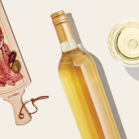 White wine paired with a charcuterie board