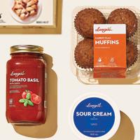 Longo's Tomato Sauce, Muffins and sour cream