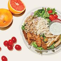 Image of organic salad and grapefruit