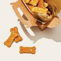 Dog biscuits in a cardboard box